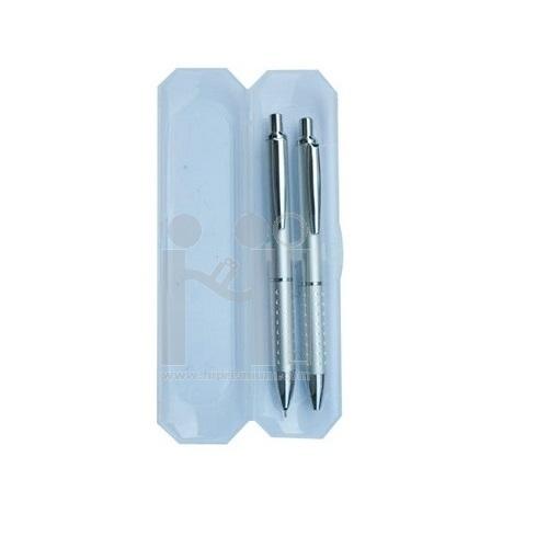 ชุดกล่องพลาสติก,ปากกาโลหะ,ดินสอกด