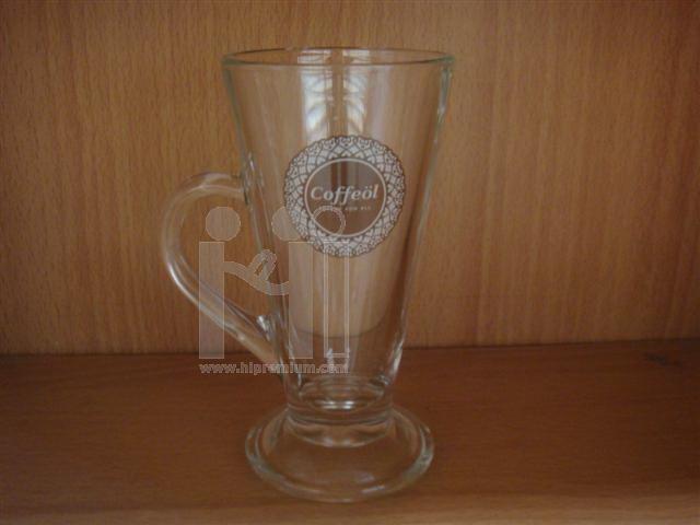 แก้วใส แก้วเบียร์ทรงสูง แก้วมีหูจับ