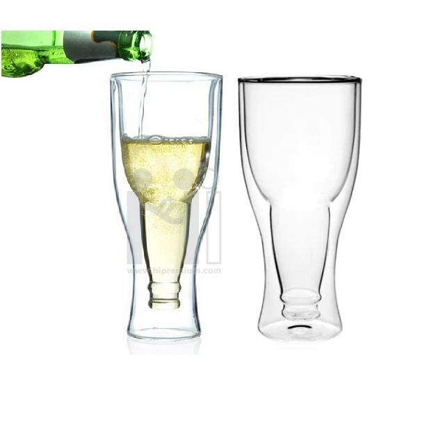 แก้วใส 2 ชั้น แก้วเบียร์ทรงสูง
