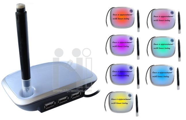 HUB สำหรับจดโน้ต(ลบได้) กะพริบไฟ7สี
