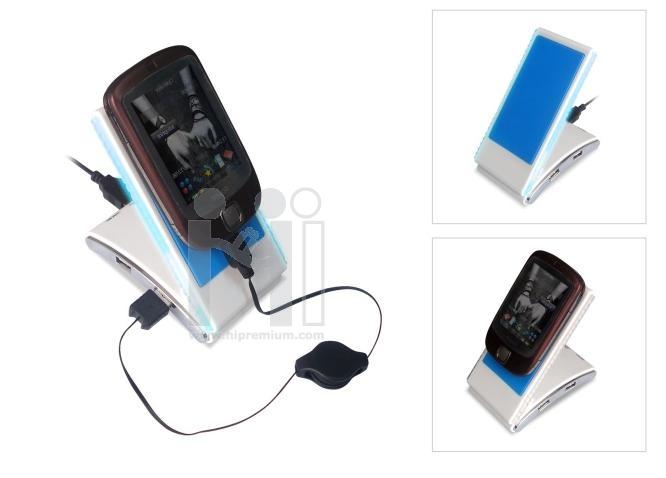 USB HUB ฮับพร้อมที่ชาร์จมือถือ MP3 MP4