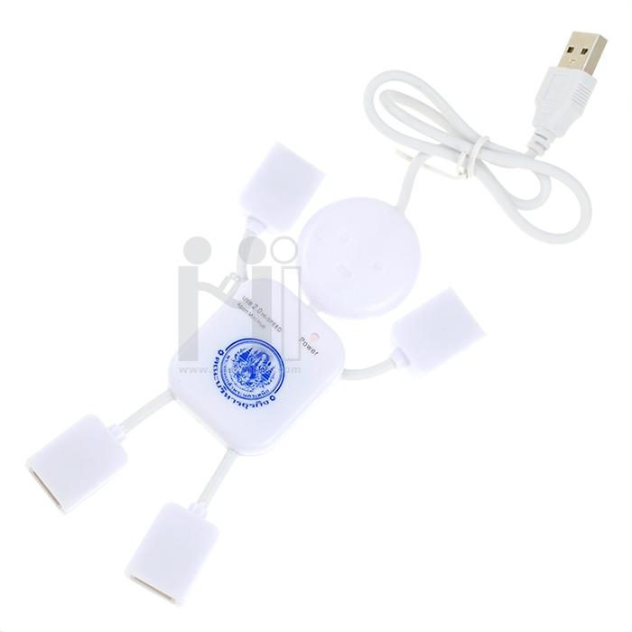 4 Port USB Hub Man ฮับรูปคน