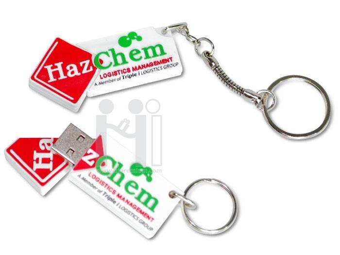 Flash Drive ขึ้นรูปใหม่โลโก้ Haz Chem หรือทรงอื่นๆตามสั่ง(แฟลชไดรฟ์สั่งทำ)