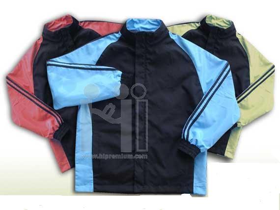 เสื้อแจ็คเก็ต คอปก ตัดต่อแขน