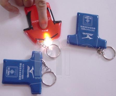 พวงกุญแจไฟฉายพีวีซี สั่งทำแบบใหม่ตามต้องการ