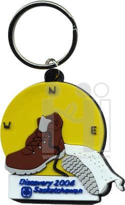 พวงกุญแจยางหยอด ห่วงแบนไม่มีโซ่ พวงกุญแจพีวีซีสั่งทำตามแบบ