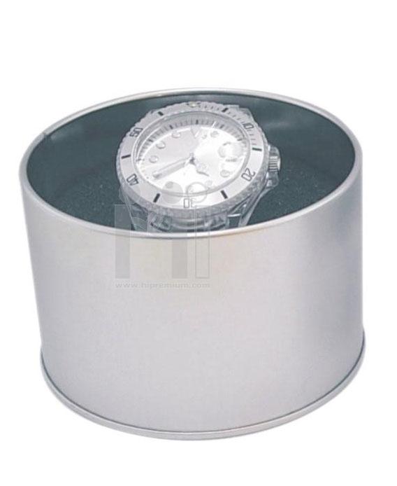 กล่องโลหะกลมสำหรับนาฬิกาข้อมือ