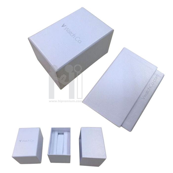 กล่องกระดาษสีขาวสำหรับนาฬิกาข้อมือ ,