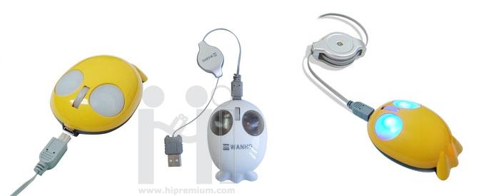 เมาส์แฟนซีรูปทรงปลา<br> USB Mini Optical Mouse