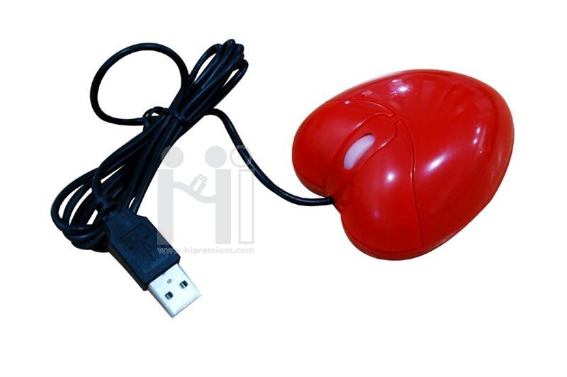 เมาส์แฟนซีรูปทรงหัวใจ<br> USB Optical Mouse