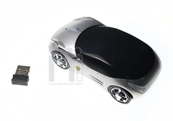 เมาส์แฟนซีไร้สายรูปทรงรถยนต์<br>2.4Ghz USB Wireless Mouse