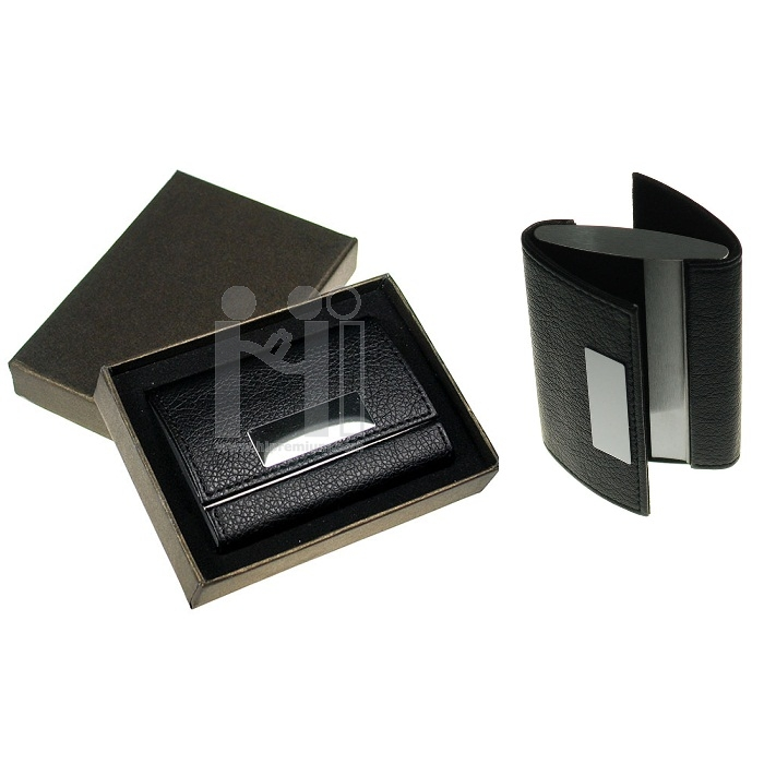 กล่องนามบัตรใส่ได้2ด้าน ตลับใส่นามบัตรหนังเทียม