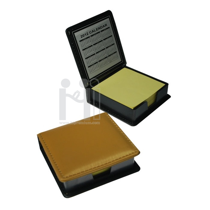 กล่องหนังกระดาษโพสต์อิทสีทอง