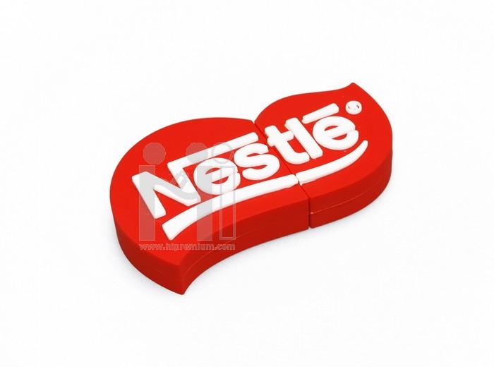 แฟลชไดร์ฟโลโก้ Nestlé เนสท์เล่ หรือทรงอื่นๆตามสั่ง (แฟลชไดรฟ์สั่งทำ)