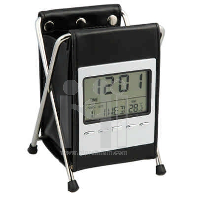 นาฬิกาตั้งโต๊ะบอกอุณหภูมิ  พร้อมนาฬิกาปลุก