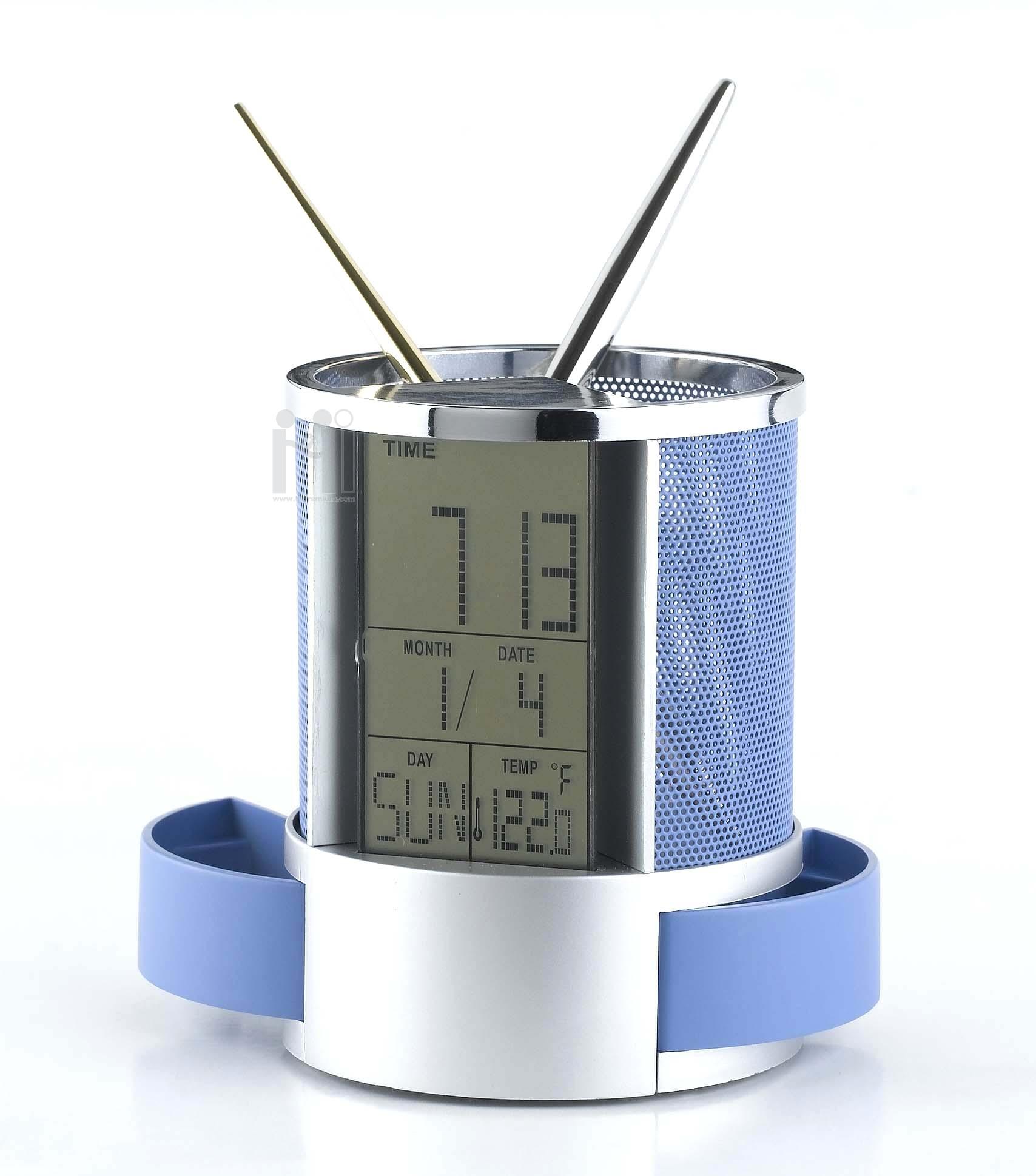 นาฬิกาตั้งโต๊ะปลุกได้&อุณหภูมิ&ปฏิทิน