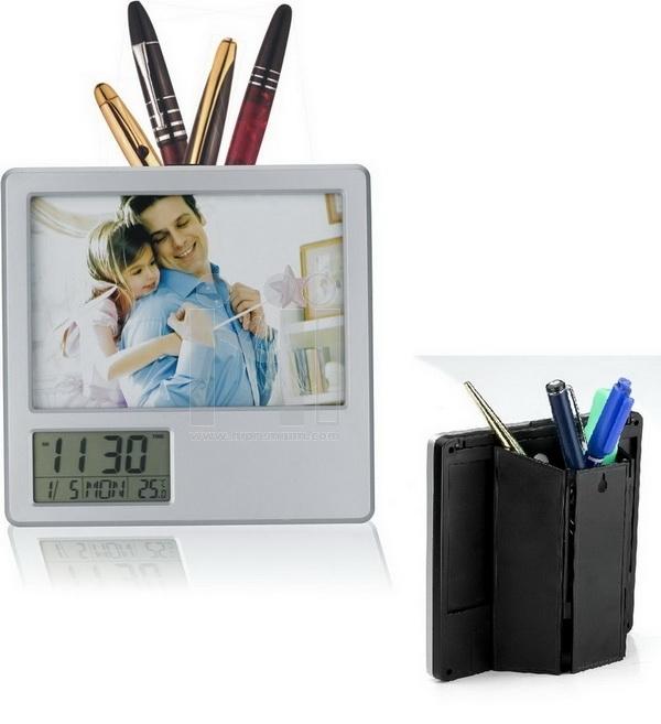 นาฬิกากรอบรูปมีช่องใส่ของ นาฬิกาตั้งโต๊ะพร้อมกรอบรูป