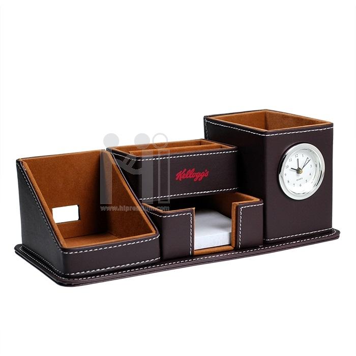 นาฬิกาตั้งโต๊ะ พร้อมช่องใส่ของอเนกประสงค์ นาฬิกาสต๊อก ของพรีเมี่ยม
