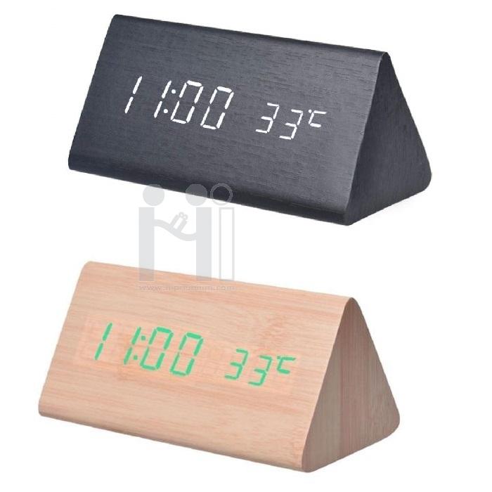 นาฬิกาไม้ตั้งโต๊ะ ดิจิตอล พรีเมี่ยม
