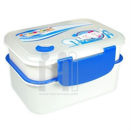 กล่องใส่อาหาร2ชั้น <br>กล่องใส่ไมโครเวฟได้ สั่งทำสีได้