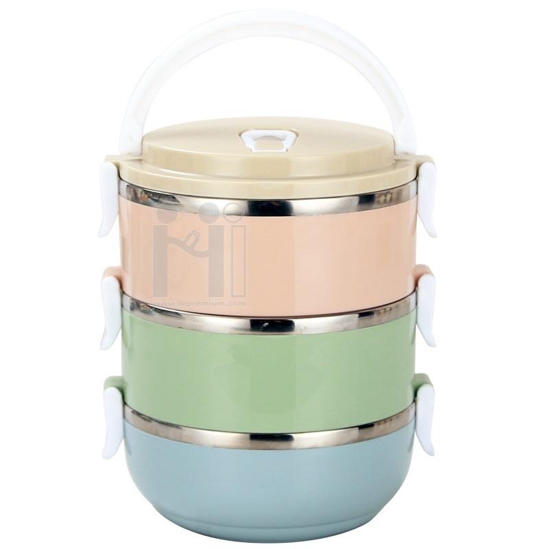 ปิ่นโต กล่องข้าว กล่องใส่อาหาร3ชั้น<br>กล่องข้าว 3 ชั้น ของพรีเมี่ยม