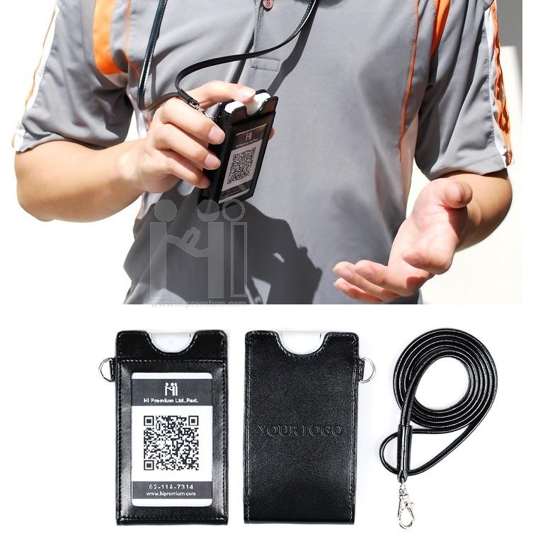 สายคล้องบัตรพร้อม Spray Card แอลกอฮอล์75%