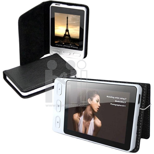 **Out Of Stock**<br>กรอบรูปดิจิตอลมินิ ปกหนัง<br>Mini Photo Digital Frame With Leather Case