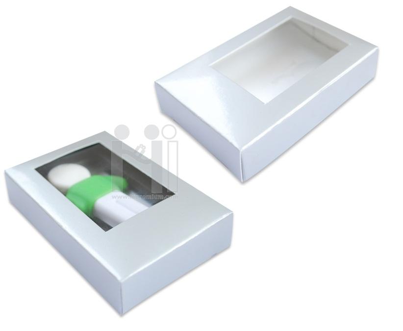 กล่องกระดาษสีเงินเคลือบเงา