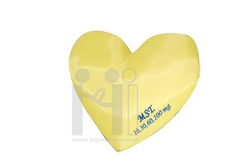หมอนจิ๋วรูปหัวใจผ้าทีซี