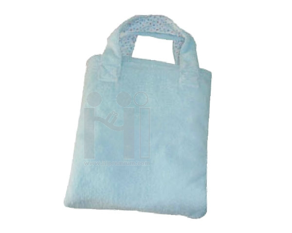 ผ้าห่มพับเก็บเป็นกระเป๋าหูหิ้วสั่งทำขั้นต่ำ1,000ชิ้น