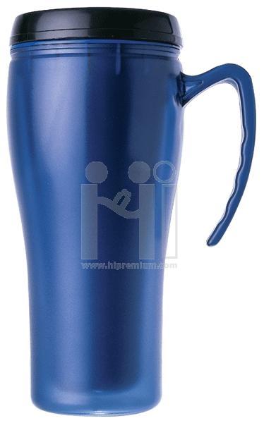 แก้วพลาสติกสองชั้นอย่างดี plastic double wall mug