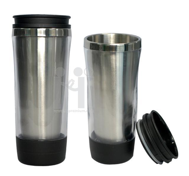 แก้วเก็บอุณหภูมิ กระติกสูญญากาศ plastic double wall mug
