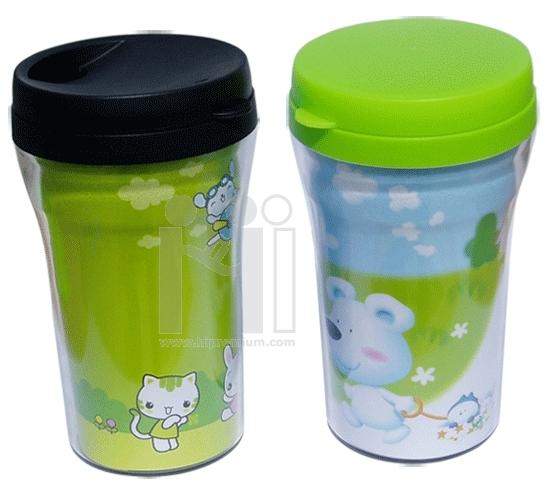 แก้วพลาสติก2ชั้น plastic double wall cup