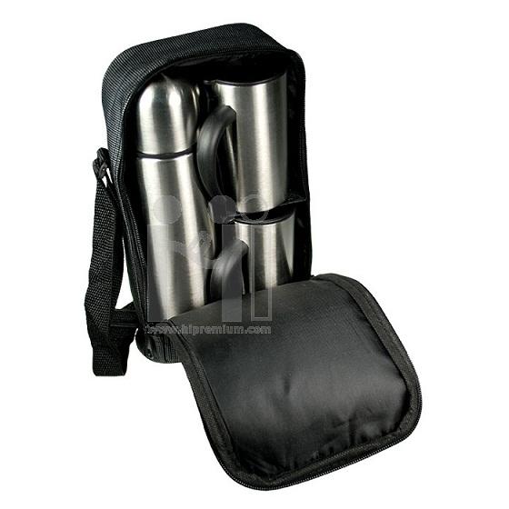 ชุดกระเป๋าแก้วเก็บอุณหภูมิพร้อมแก้ว2ใบ  <br>กระบอกน้ำแสตนเลสสต๊อก ขั้นต่ำ100ชุด