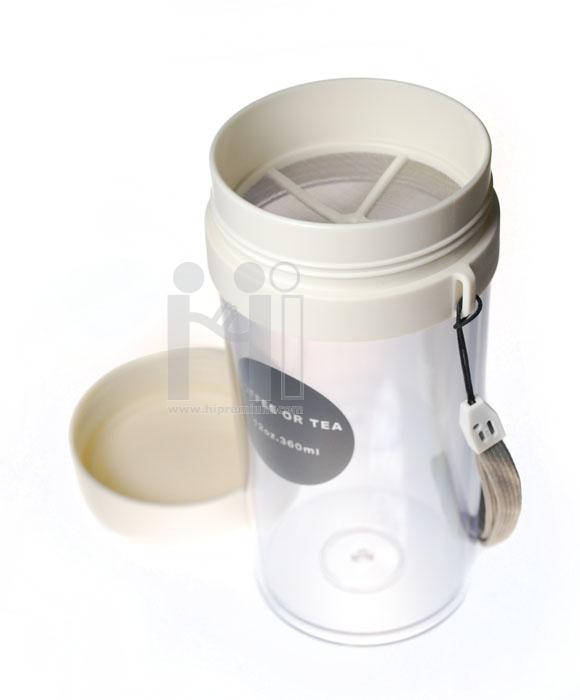 แก้ว Eco Cup แก้วน้ำพลาสติกพร้อมที่กรองชา ขั้นต่ำ 100 ใบ <br>ผลิตภัณฑ์รักษาสิ่งแวดล้อม