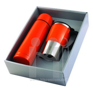 ชุดเซ็ตกล่องกระบอกน้ำสูญญากาศและแก้ว<br> กระบอกน้ำสแตนเลสสต๊อกขั้นต่ำ100ชุด