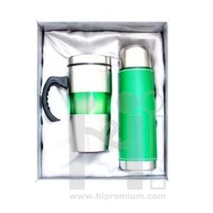 ชุดเซ็ตกล่องกระบอกน้ำสูญญากาศและแก้ว กระบอกน้ำสแตนเลสสต๊อกขั้นต่ำ100ชุด