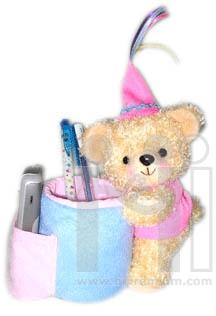 กล่องใส่ปากกาตุ๊กตาหมีตัวใหญ่