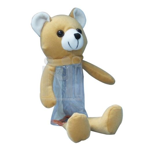 กระเป๋าตุ๊กตาหมีใส่เครื่องเขียน(ใหญ่)