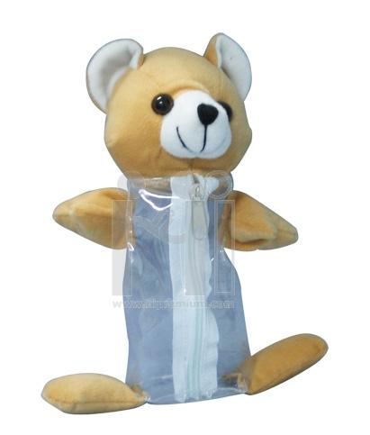 กระเป๋าตุ๊กตาหมีใส่เครื่องเขียน(เล็ก)