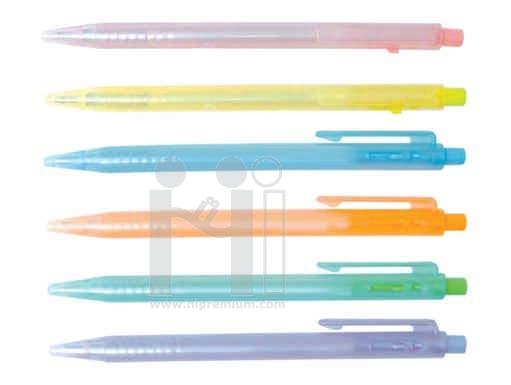ปากกาลูกลื่น ปากกาพลาสติก(เลือกหมึกแดง,น้ำเงินได้)