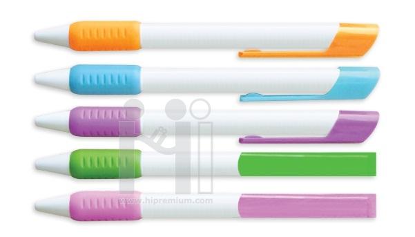ปากกาลูกลื่น  ปากกาพลาสติก ด้ามจับยางกันลื่น