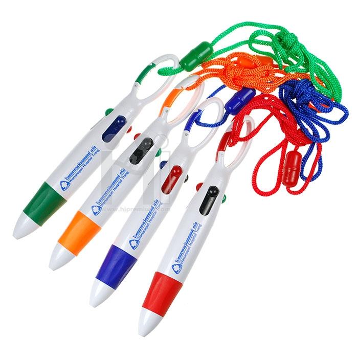 ปากกาคล้องคอ ปากกา4ไส้ ปากกาสายคล้องคอ ปากกาหลายไส้