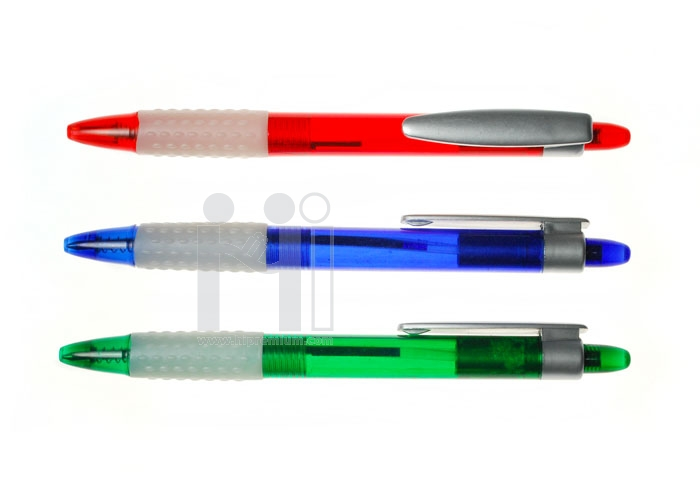 ปากกาลูกลื่นด้ามจับยางกันลื่น ปากกาสต๊อก