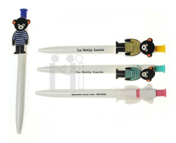ปากกาลูกลื่นรูปหมี ปากกาสต๊อก ขั้นต่ำ300ด้าม