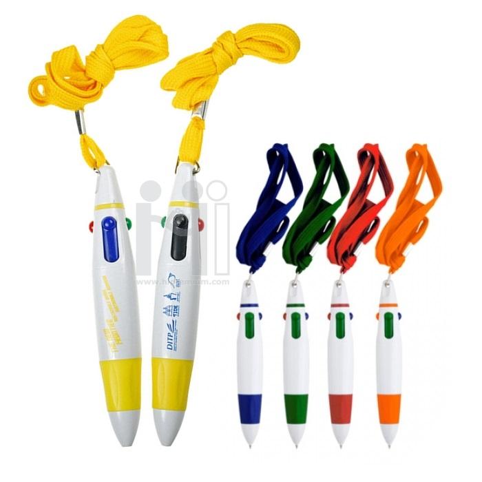 ปากกาคล้องคอ ปากกา4ไส้ ปากกาสายคล้องคอ ปากกาหลายไส้ พรีเมี่ยม