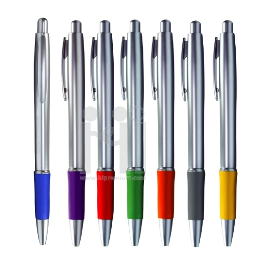 ***ปากกาลูกลื่น ปากกาพลาสติก ด้ามจับยางกันลื่น