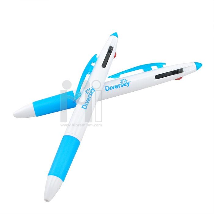 ปากกา3ไส้ หมึกเจล ปากกาหลายไส้สต๊อก พรีเมี่ยม