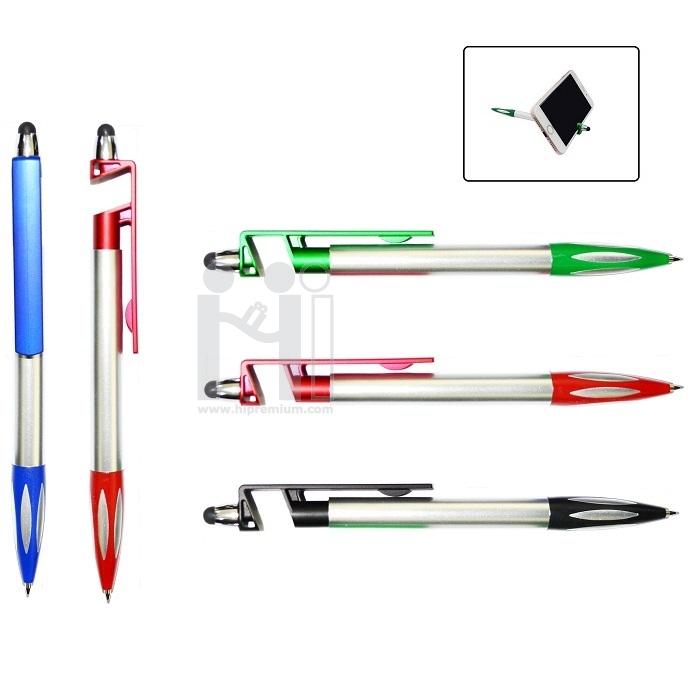 ปากกาวางโทรศัพท์มือถือได้ ปากกาทัชสกรีนพรีเมี่ยม ปากกาตั้งมือถือได้ Stock