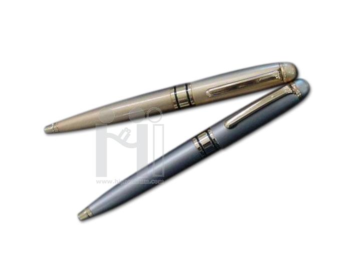 ปากกาโลหะ หมึกลูกลื่นสีน้ำเงิน